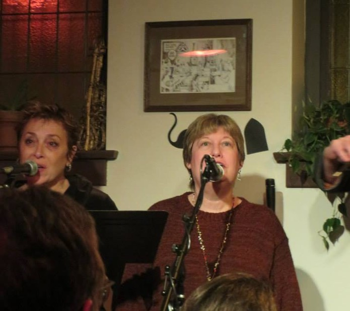 Patti Shaffner & Sue Fink (my SongSisters)